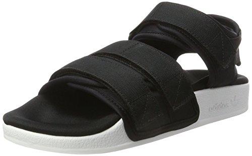adidas Damen Adilette Offene Sandalen, Schwarz (Core Black/Core Black/Ftwr White), 38 EU