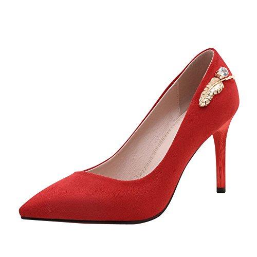 Mee Shoes Damen high heels Nubuck Geschlossen Pumps Rot