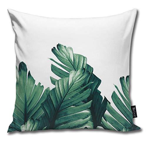 Green Banana Leaves Dream # #Tropical #Decor #Art #Society Pillowcase Home Life Cotton Cushion Case 18 x 18 inches Banana Leaf House