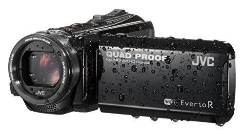Jvc gz-rx601beu videocamera full hd quad proof, fotocamera 10 megapixel, wi-fi, memoria integrata da 8gb, software in dotazione, nero