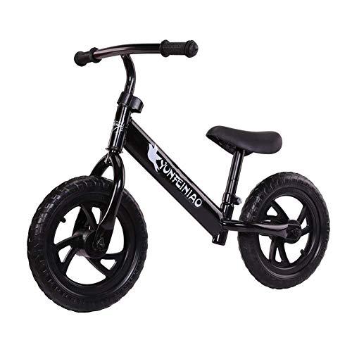 ZCR Kinder Gleichgewicht Slide Auto ohne Pedal 2-Rad-Fahrrad 2-6 Jahre alt Baby-Roller-Stepper (Color : Schwarz)