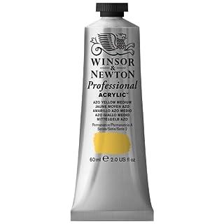 Winsor & Newton 60 ml Professional Acrylic Colour - Azo Yellow Med