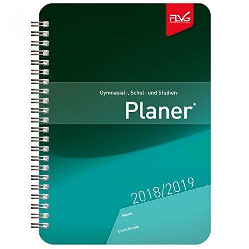 Gymnasial-, Schul- und Studienplaner 2018/2019 A5, blaues Cover
