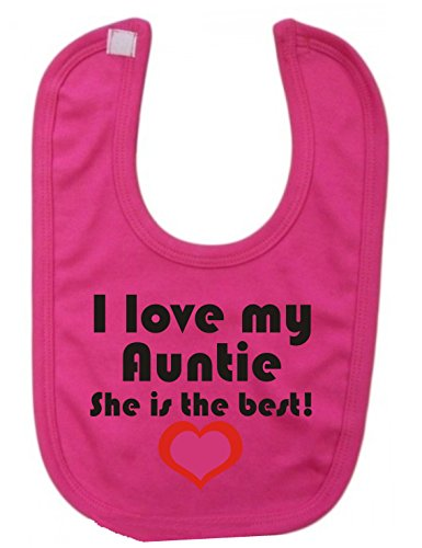 i-love-my-auntie-she-is-the-best-novelty-baby-bavaglino-rosa-fucsia-taglia-unica