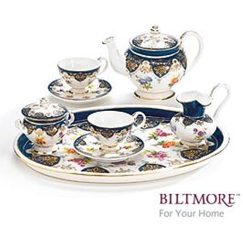 Vanderbilt G Collection Vanderbilt Teaset progettato in miniatura in porcellana di Sevres Biltmore 1888 Casa-Set da tè