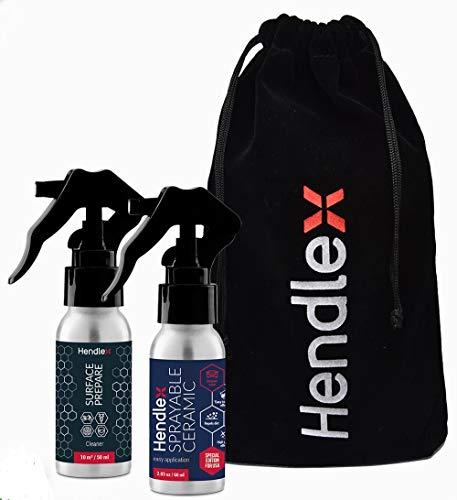 Hendlex Sprühbare Keramik Autolack Nano Versiegelung KFZ 60 ml + Reiniger