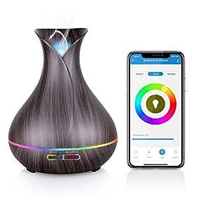 Maxcio Alexa Aroma Diffuser, Ätherische Öl Smart Ultraschall Duftlampe Luftbefeuchter 400ML, Kompatibel mit Alexa und…
