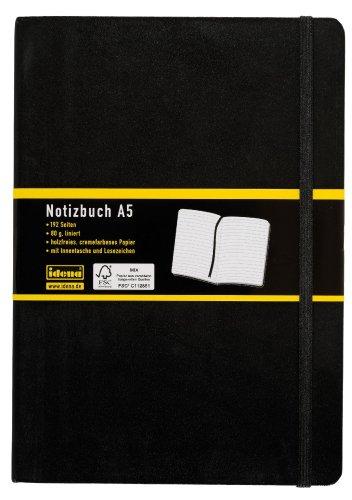 Preisvergleich Produktbild Idena 209284 - Notizbuch DIN A5, 192 Seiten, 80 g/m², liniert, schwarz