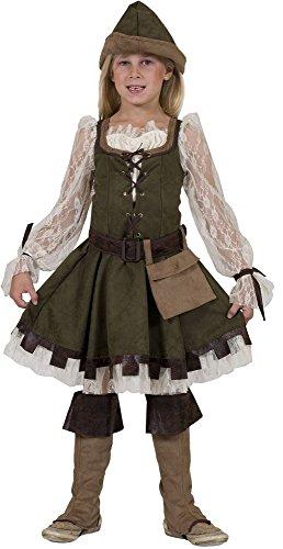 Robin Hood Girl Kostüm Mädchen Gr. 116 (Robin Hood Girl Kostüme)