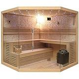 Desineo Cabina Completa di Sauna angolare Lutèce Full Opzioni Lusso 200x 200x 210cm