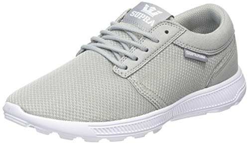 Supra Hammer Run, Zapatillas Unisex Adulto, Gris Grey/White-White 046, 42 EU