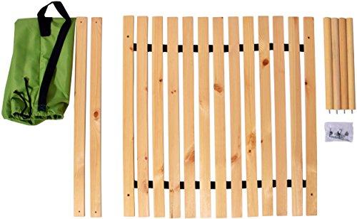 Dobar tavolo da campeggio pieghevole profonda in legno inclusa sacca di trasporto, 94380e
