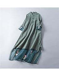 vestido de lino / yoga traje de la mujer y la meditación , green