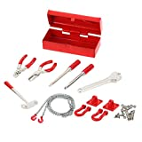 MagiDeal Werkzeug-Kit + Anhängerkupplung Kettenhaken Set für 1/10 Rc Axiale Scx10 Rc4wd D90