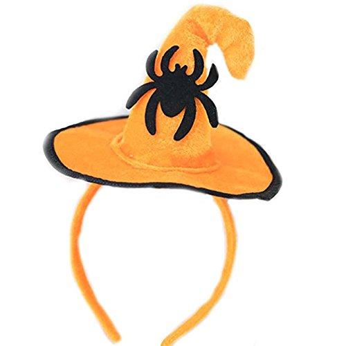 Halloween Stirnband, Kürbis Haarband Schädel Haar Spange Spinne/Fledermaus /Orange Hexe Hut Haare hoop Cosplay Kostüm Zubehör Kopfschmuck Haarschließe für Kinder Erwachsene Party Dekoration (Spinne) (Halloween Party Kostüm Ideen Für Jugendliche)