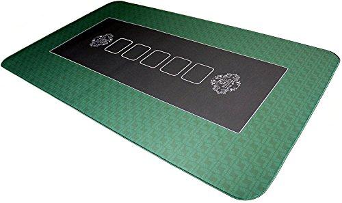 Bullets Playing Cards Profi Pokermatte grün in 140 x 75cm eigenen Pokertisch - Deluxe Pokertuch – Pokerteppich – Pokertischauflage – ideal als Geschenk