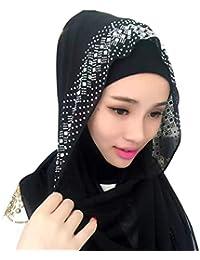 MEYINI Scaldacollo con Testa Musulmana Donne - Islamiche Hijab Foulard  Morbido Copricapo Fazzoletti da Testa 92e657a42236