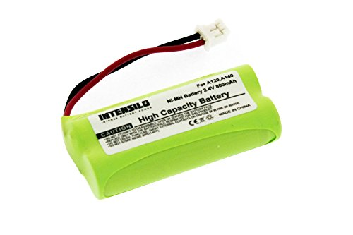 Intensilo nimh batteria 800mah (2.4v) per telefono fisso cordless siemens gigaset al110, al110duo come v30145-k1310-x394,-x359, v30145-k1310-x394,-x383.