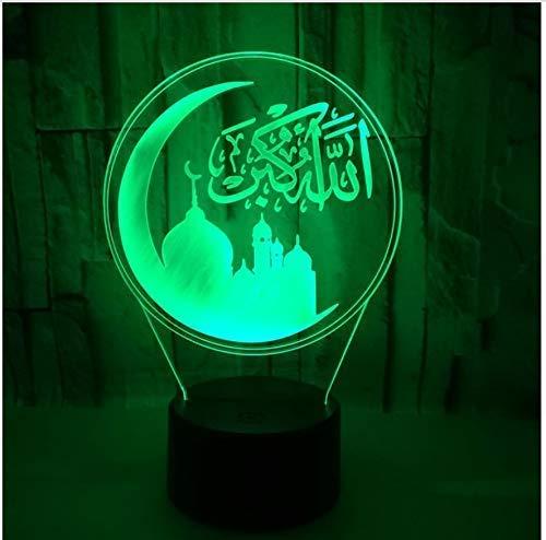 LXD Haushalts acryl nachtlicht kreative märchen 7 farbwechsel 3d led licht acryl touch usb lampe raum tisch schreibtisch nachtlicht geschenk vergnügen