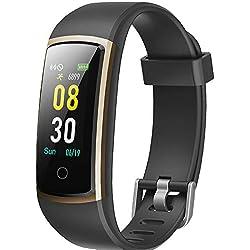 YAMAY Montre Connectée Femmes Homme Smartwatch Tensiometre Bracelet Connecté Cardiofrequencemetre Podometre Etanche IP68 Smart Watch Tension Arterielle Montre Sport pour Android iOS Samsung Huawei