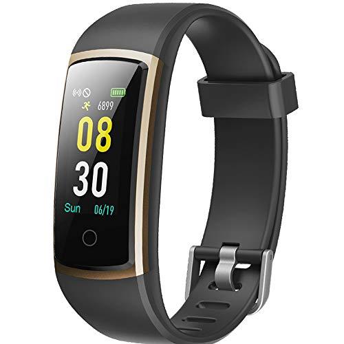YAMAY Montre Connectée Femmes Homme Smartwatch Tensiometre Bracelet Connecté Cardiofrequencemetre Podometre Etanche IP68 Smart Watch Tension Arterielle Montre Sport pour Android iOS Samsung...