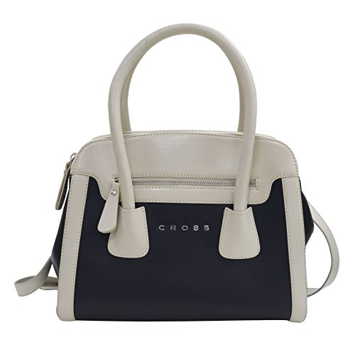 cross-womens-artificial-leather-double-handled-zip-closer-handbag-ivory-black