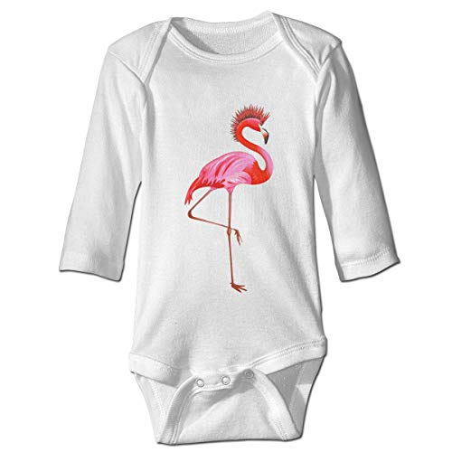 WBinHua Bodysuits Baby Body, Punk Rock Flamingo Baby Boys Girls Long Sleeve Onesies Bodysuits