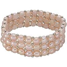 Perlen Armband 3-reihig (flieder) Ø 22mm, Länge 19 - 20cm