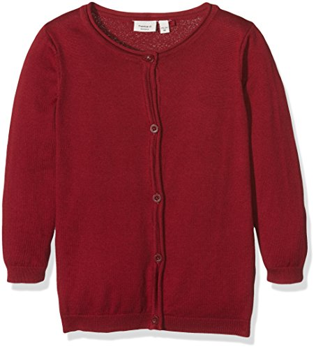 name it Mädchen Strickjacke bordeaux rot nitVamina, 98