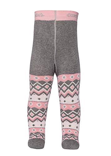 Ewers THERMO Baby- und Kinderstrumpfhose für Jungen und Mädchen Teddy, Made in Europe, Innenfrottee Plüsch Strumpfhose Baumwolle (Mit Teddy-bär Socke)