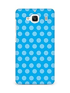 AMEZ designer printed 3d premium high quality back case cover for Xiaomi Redmi 2 Prime (blue polka dots)