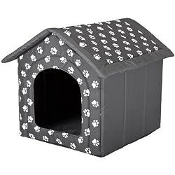 Hobbydog Dog House, gris avec pattes, L