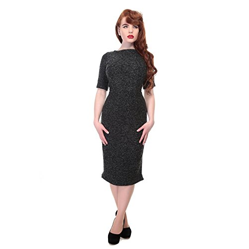 Collectif Vintage - Robe - Femme Anthracite