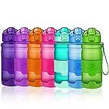 Bottiglia d'acqua sportiva senza BPA -riutilizzabile borraccia in plastica tritan 400ml/500ml/700ml/1l,bottiglie per bambini, scuola,bici,yoga   a prova di perdite borracce con filtro, un clic aperto