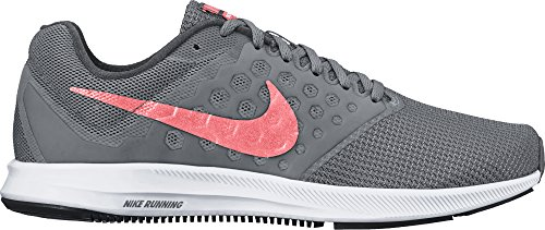 Nike Wmns Downshifter 7, Scarpe da Corsa Donna, Grigio (Cool Grey/Lava Glow/Dark Grey/White), 39 EU