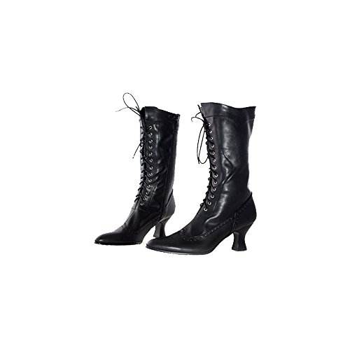 (Ellie Shoes E253-Amelia-8 8 Mid Calf Adult Boot - Schwarz)