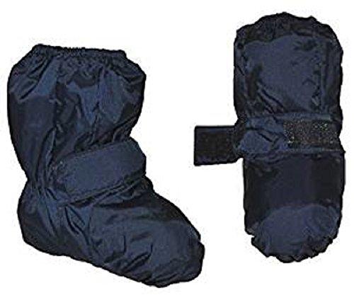 Überziehschuhe mit langem Schaft - Größe: 9 Monate bis 1,5 Jahre - wasserdicht leicht anzuziehen - Thermo gefüttert Fleece - dunkel blau Baby Regenfüßling Füßlinge - Babyschuhe