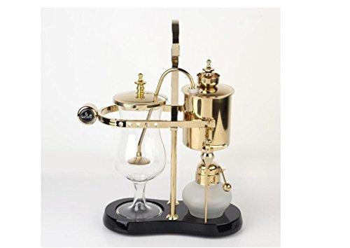 Diseño de moda cafetera sifón cafetera belga real , gold