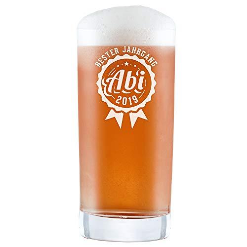 AMAVEL Craft-Bierglas mit Gravur - Abi 2019 - Bester Jahrgang - Pint - Cocktailglas - Longdrinkglas - Geschenk zum Abitur - Füllmenge: 0,5 l