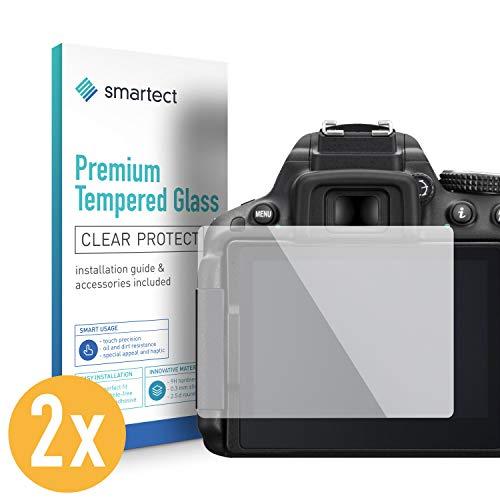 smartect Panzerglas für Nikon D5300 D5500 D5600 [2 Stück] - Displayschutz mit 9H Härte - Blasenfreie Schutzfolie - Anti Fingerprint Panzerglasfolie