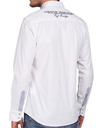 Redbridge Hemd Polohemd Herrenhemd Modell R2130 weiss Weiß