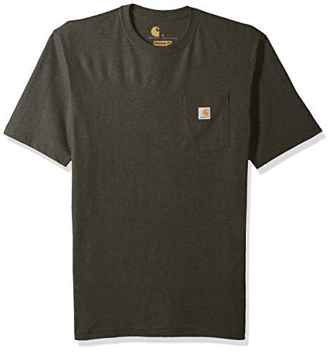 Carhartt Herren K87 Workwear Pocket Short Sleeve T-Shirt Hemd, Olivine Heather, 4X-Large Hoch -