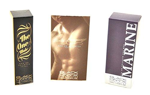 Trend Düfte: Set X 3 (drei) Parfüm für Herren 15 ML jedes einzeln in Box Spray Black Onyx (Eau de Parfum) (Männer Neue Tester)