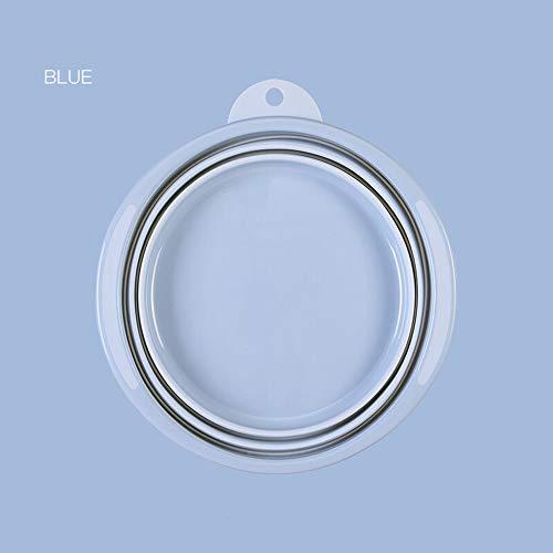 FNCUR Teleskopbecken Kein BPA Faltbares Tragbares Waschbecken Babywaschbecken Cister Heimgebrauch Outdoor Sports Camping Bedürfnisse (Color : Light Blue, Größe : M)
