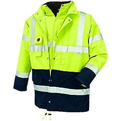 Texxor 4112 - Alta parka visibilidad calgary impermeable chaqueta, el trabajo a prueba de viento, 3xl amarillo,