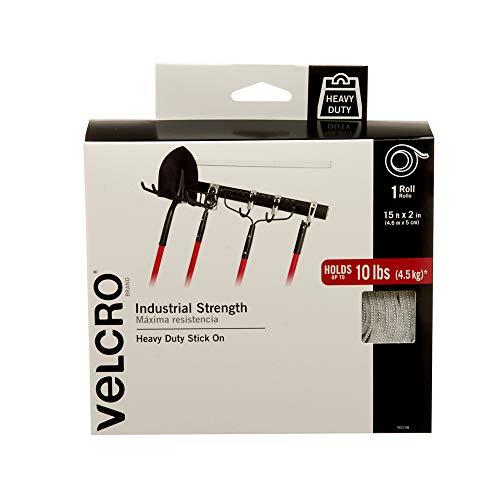 Velcro (R) Marke gurthalteband 2x 15Zoll Industrieller Stärke Tape, weiß 2in Loop Tape