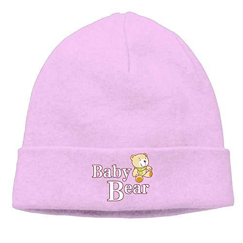 DHNKW Baby Bear Beanie Hat Winter New Flat Brim\r\n Stocking Flat Brim Fitted Wool Cap