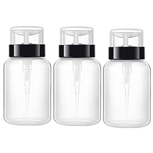 Pump Dispenser, 3 Stück 200ml Pumpflasche Flüssigkeitsspender, Pumpe Leere Flasche Dispenser für...
