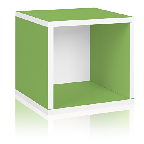 Way Basics Aufbewahrungswürfel und Aufbewahrungsbox, stapelbar, naturfarben (aus nachhaltiger, ungiftiger ZBoard Papp) Modern ONE Size grün