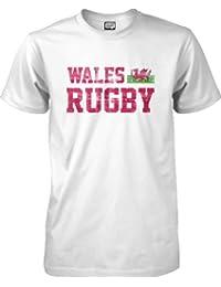 wantAtshirt - Wales Rugby T-shirt Flag - S to 2XL